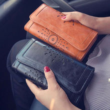 Ladies Women Boho Leather Wallet Handbag Clutch Bag Phone Ca