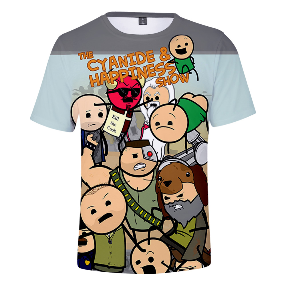 The Cyanide & Happiness Show 3D t shirt for children's shorts sleeve summer o-neck tshirts in boys/girls popular funny 3D tees image