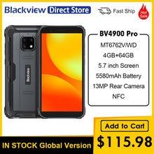 Blackview-teléfono inteligente BV4900 Pro, móvil resistente al agua IP68 de 5,7 pulgadas, 4GB de RAM, 64GB de ROM, ocho núcleos, 5580mAh, NFC, 4G