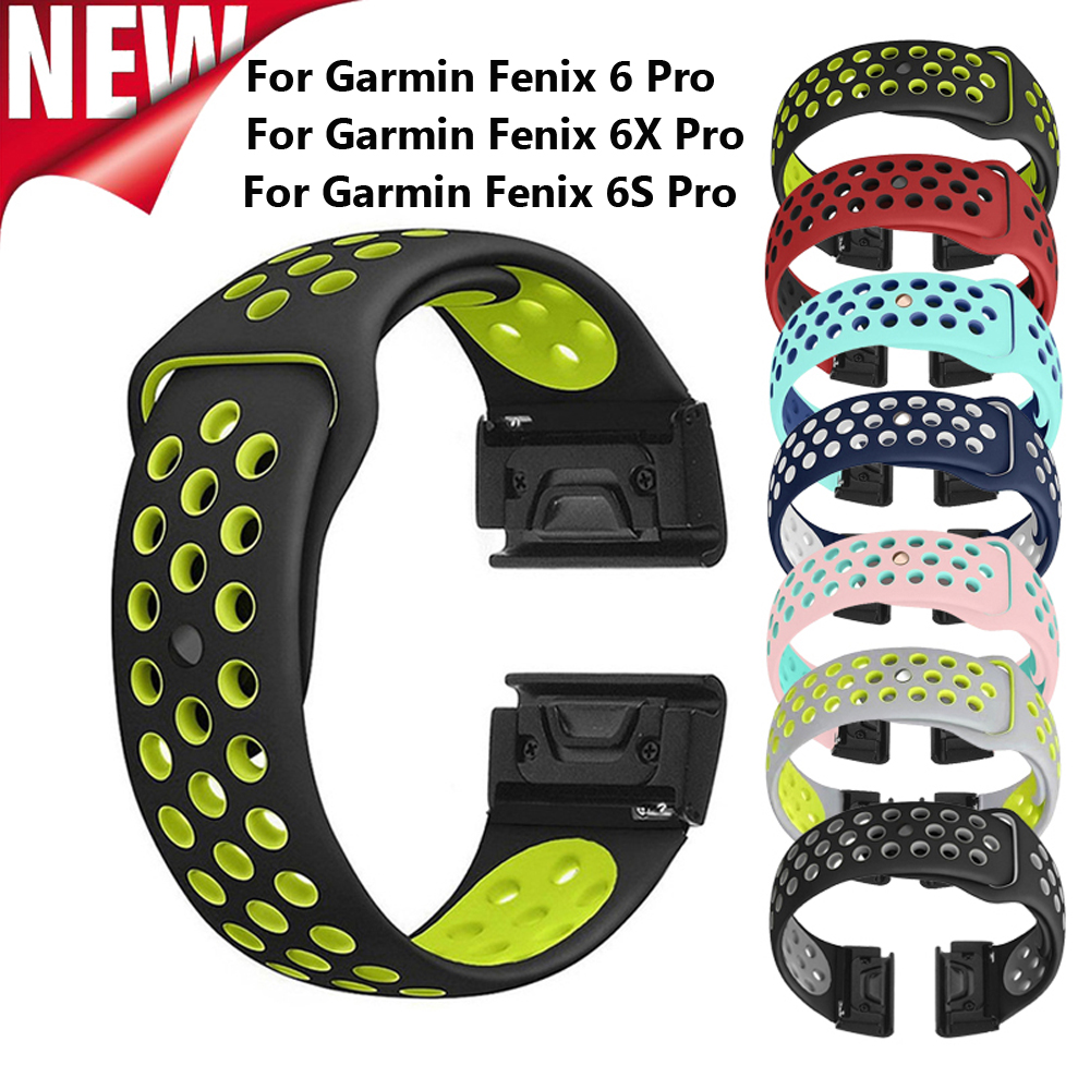 20 22 26mm Silicone Watch Band Easy Release Quick Fit Strap For Garmin Fenix 3 3HR/Fenix 5X/5X Plus/S60/D2/MK1/Fenix 6 6S 6X Pro