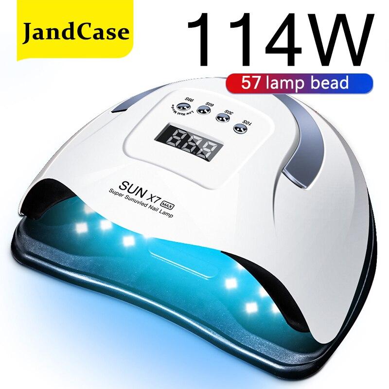 SUN X7 Max 220 вт сушилка для ногтей с жк-дисплеем 57 LEDs светодиодный светильник для ногтей уф светодиодный светильник для отверждения гель-лака ав...