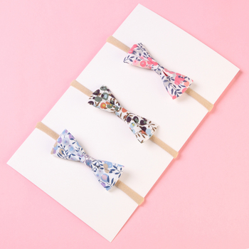 3pcs/lot Kids Headband Colorful Printed Bows With Hair Boutique Newborn Baby Hairband Accessories Headwrap