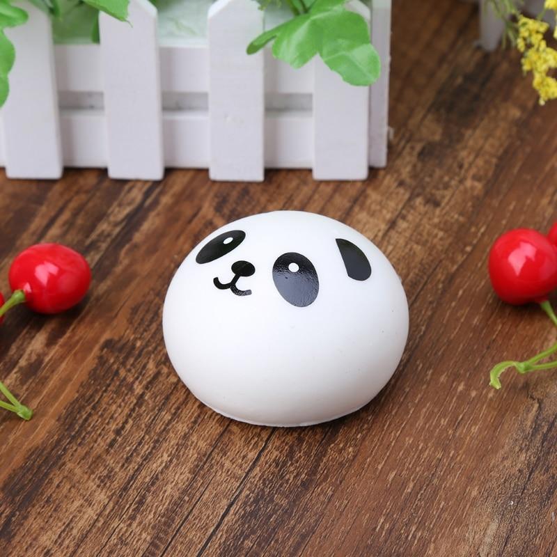 Squishy Panda Bun Stress Reliever Ball Slow Rising Decompression Toys Kids Toy