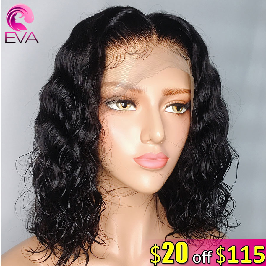 Eva Hair Short Bob Curly 150% 13x6 Lace Front Human Hair Wigs Pre Plucked Brazilian Remy Hair Wig With Baby Hair For Black Women
