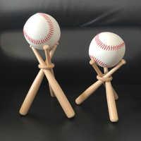 1 Set Mini Holz Baseball Bat Golf Tennis Ball Display Standfuß Halterung Souvenir Ball Lagerung Halter Unterstützung
