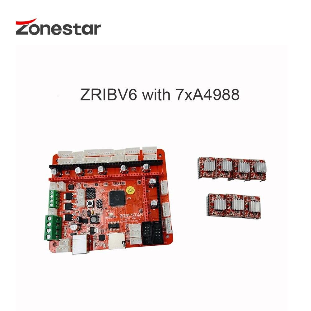 ZONESTAR plus récent 3D imprimante carte mère carte mère ZRIBV6 contrôleur Compatible avec rampes V1.4 ATMEGA2560 quatre extrudeuses