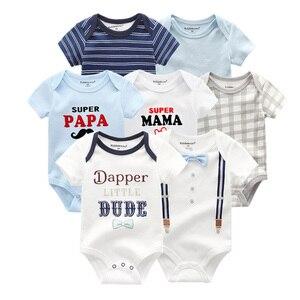 Image 3 - Детская одежда для мальчиков и девочек, 7 шт./лот, летняя хлопковая одежда унисекс с коротким рукавом для детей 0 12 месяцев, 2019