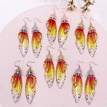 Personality Dangle Earrings Beautiful Fairy Tale Butterfly Wing Earring Originality Ear-free Eardrop Jewelry Statement