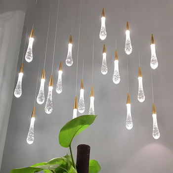 Modern Water Drop Shape LED Pendant Lightings New Design Crystal Hanging Lamp for living room kitchen island Christmas decoratio