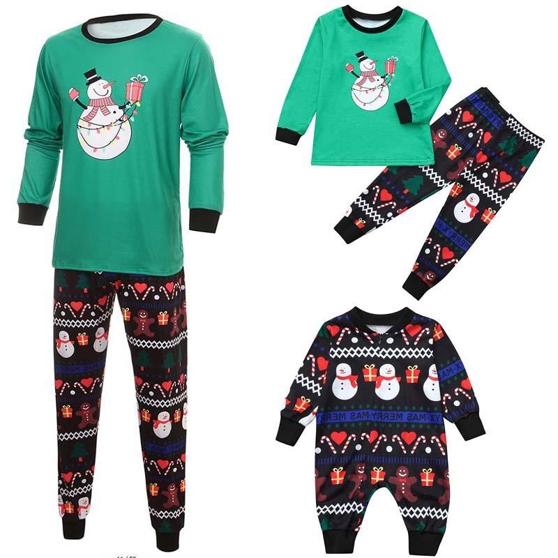 2019 Christmas Family Pajamas Set Adult Women Men Baby Kids Night Clothing Nightdress Clothing Xmas Sets