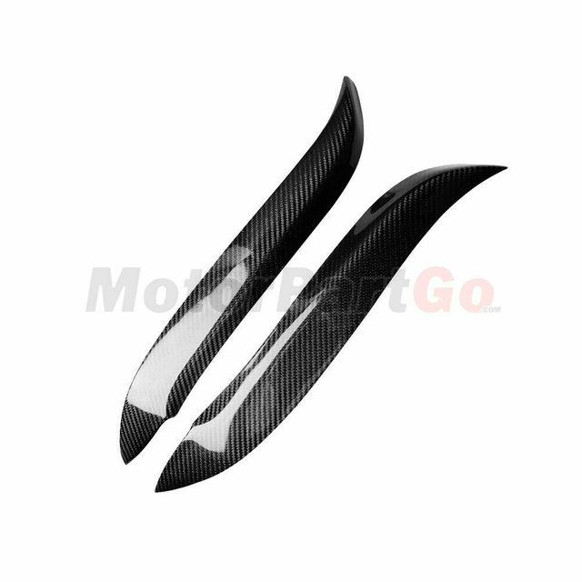 Real Crabon Fiber Head light Eyelid Eyebrow Cover Trim 1pair for  Toyota Starlet Glanza EP91 96-99 T234 5