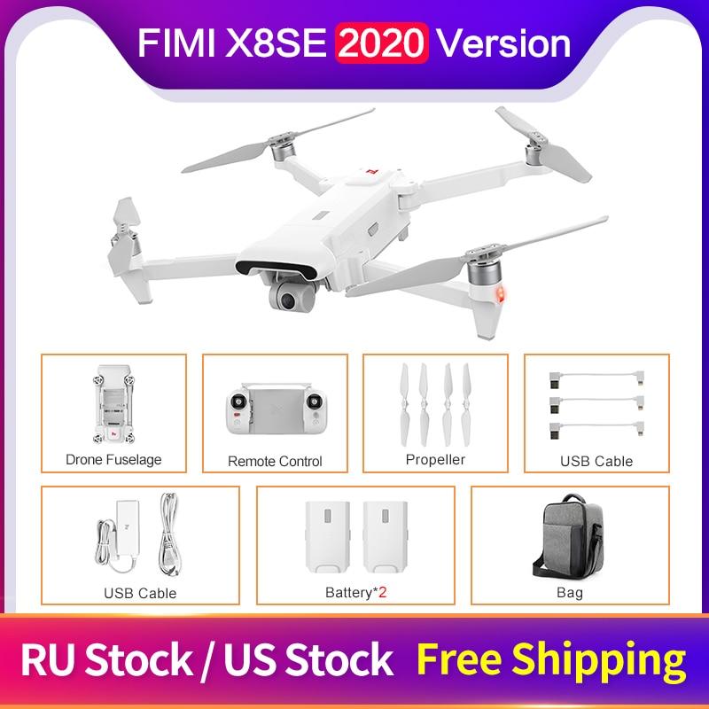 FIMI X8SE 2020 Version RC Drone 8KM FPV 3-axis Gimbal 4K Camera HDR Video GPS 35mins Flight Time Quadcopter RTF
