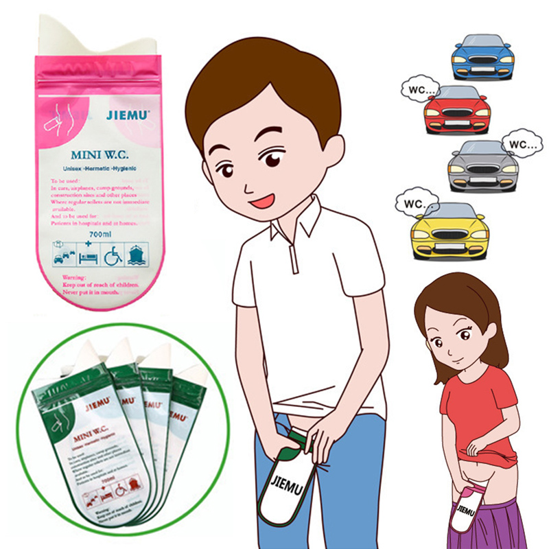 1PC Female 700ML Adults Hot Sale Male Camping Emergency Portable Pee Bag Urinal Outdoor Disposable High Quality Toilet Bag Kids
