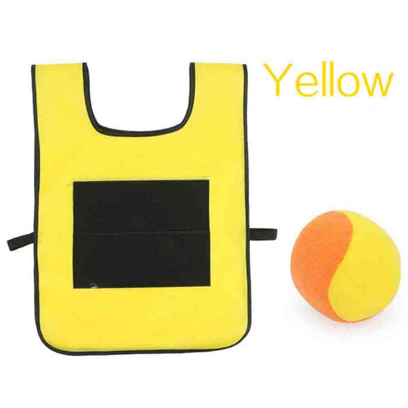Game Props Vest Sticky Jersey Vest Game Vest Waistcoat With Sticky Ball Throwing Children Kids Outdoor Fun Sports Toy