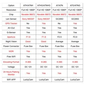 Image 2 - Автомобильный видеорегистратор JOOYFACT A7H, видеорегистратор, видеорегистратор 1080P Novatek 96672 IMX307 с Wi Fi, подходит для некоторых японских и корейских автомобилей
