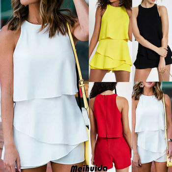 Fashion Women's Casual Holiday Summer Mini Tank Playsuit Romper Beach Shorts Jumpsuit 6