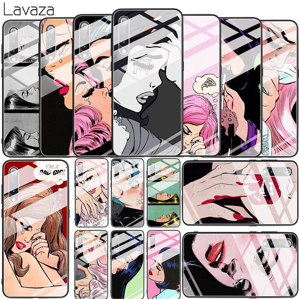 Comics triste pleurer larmes fille verre trempé étui pour Xiaomi 8 Lite 9 F1 A1 5X A2 6X couverture