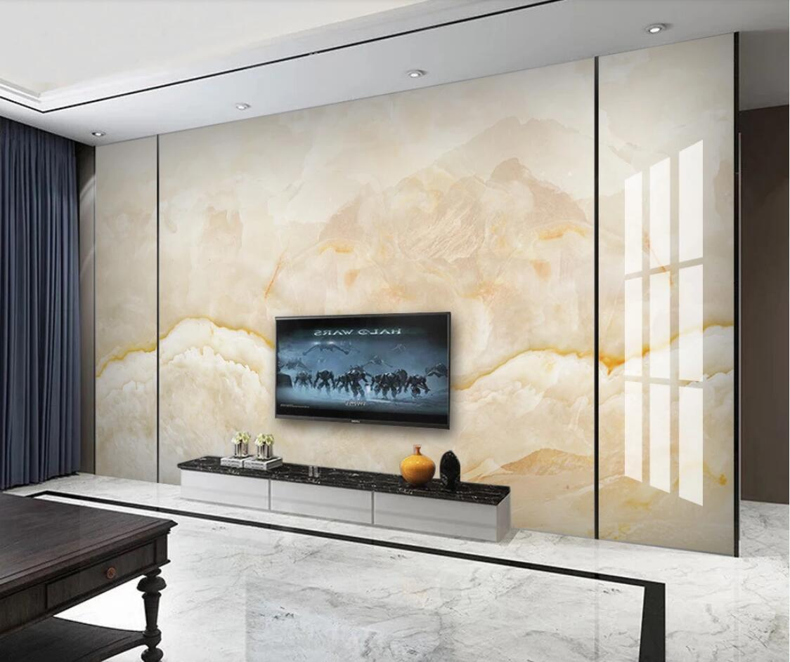 Yellow Marble Mural For Living Room Contact Paper Printed Wall Papers Roll Art Wall Murals Papel De Parede Canvas Wallpaper