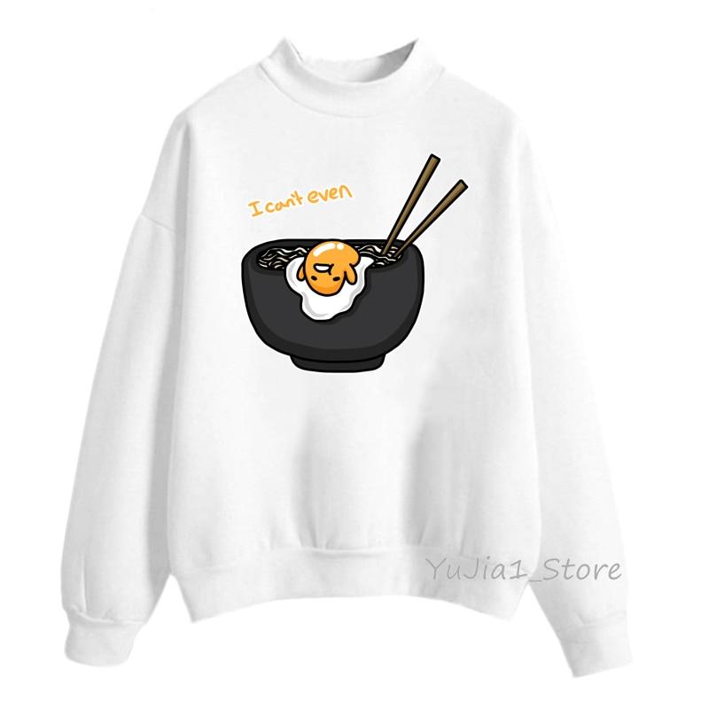 Funny Lazy Egg Yolk Gudetama Hoodies Women Harajuku Kawaii Hoodie Anime Cute Sweatshirts Winter Clothes Hoody Ladies Streetwear