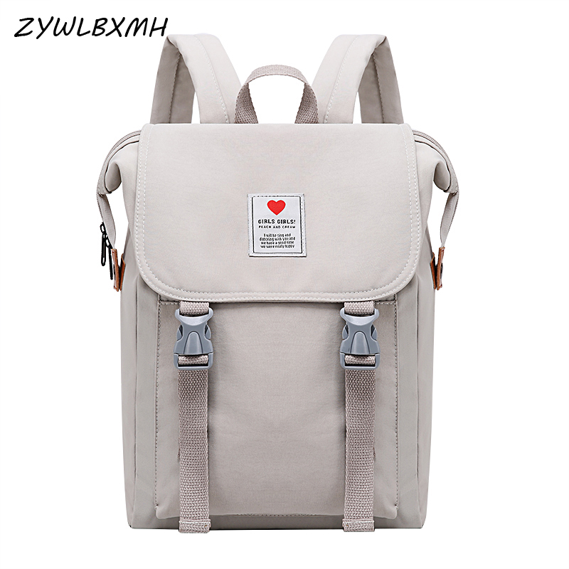 ZYWLBXMH Pure Grey Oxford Cloth School Bag Student Bag Zipper Buckle Backpacks Children's School Backpack Girl Schoolbag bagpack