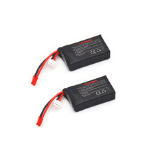 2PCS/Lot 7.4V 850mAh 25C(2S) Li-po Battery for Walkera Rodeo 110 Racing Drone Qu