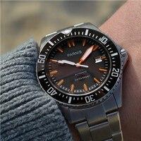 Parnis mergulhador automático relógio à prova dwaterproof água 200m metal relógios masculinos mecânicos de vidro safira marca superior relogio masculino Relógios mecânicos     -