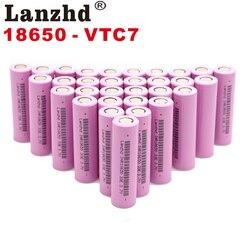 Para baterías samsung 18650 3300mah INR18650 3,7 V baterías recargables Li ion Litio ion 18650 30a gran corriente 18650VTC7