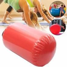 100x60 см, надувной валик для фитнеса, надувной валик, для дома, большая йога, гимнастика, цилиндр, гимнастический коврик