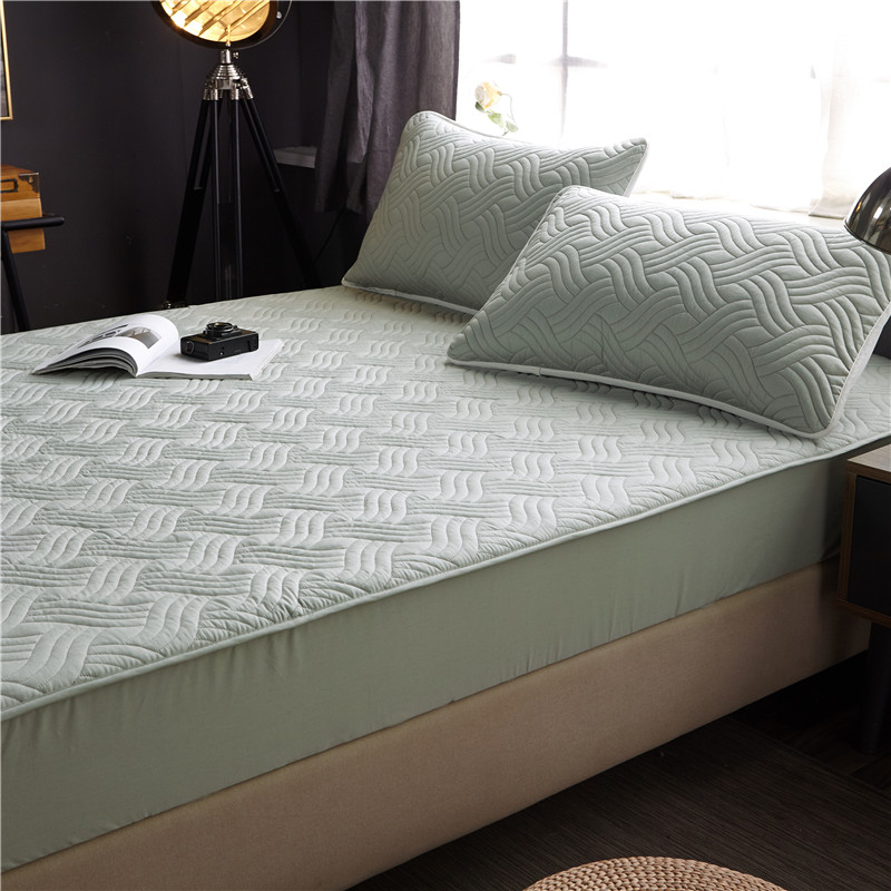 Bed Cover 100%cotton Fabric Quilted Mattress Protector Thicken king Mattress Topper for Bed Anti-mite twin bed Mattress Cover(China)