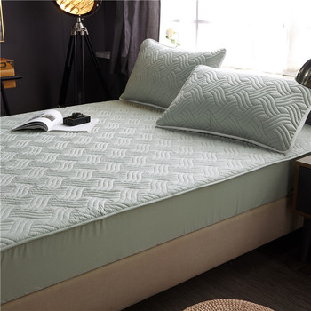 Bed Cover 100%cotton Fabric Quilted Mattress Protector Thicken king Mattress Topper for Bed Anti-mite twin bed Mattress Cover 10 two layers traditional firm high softness cotton mattress with 2 pillows twin size white