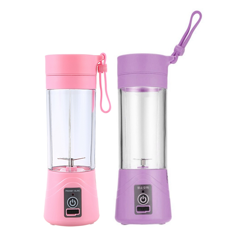 2 Pcs 380Ml USB Rechargeable Juicer Bottle CUp Juice Citrus Blender Lemon Vegetables Fruit Milkshake Smoothie Squeezers Reamers