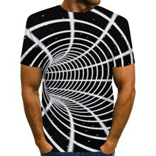 Мужская футболка с принтом в виде водоворота 3d американский