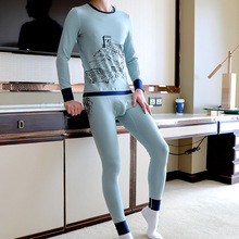 Fashion new winter thermal underwear men's cotton Long Johns