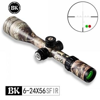 Bobcat King 6-24X56 SFIR Riflescopes Airsoft Hunting Rifle Scope Traffic Light Illumination Sniper Tactical Optical Sight