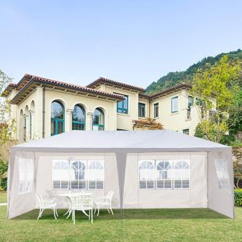 Yonntech 3 x 6m Party Tent Gazebo Marquee with 6 Removable Sidewalls Waterproof Outdoor Picnic