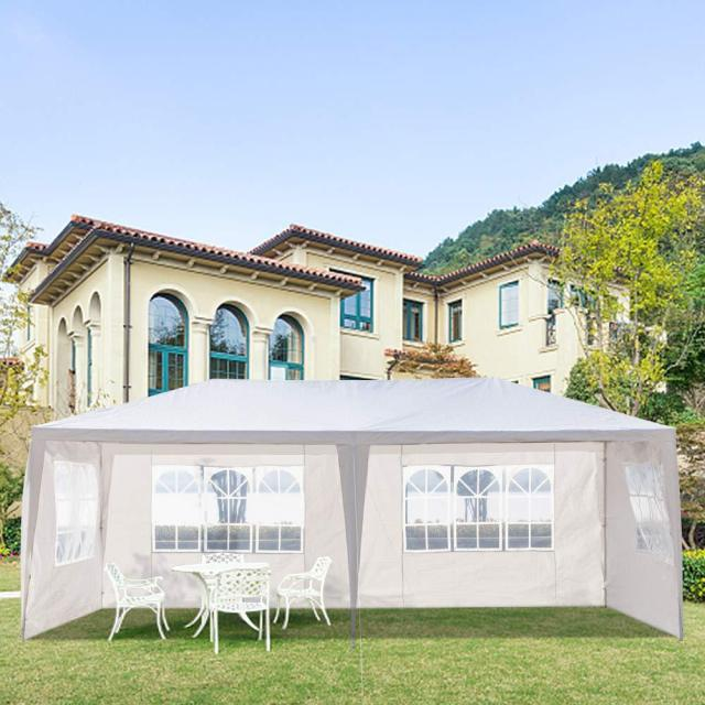 Yonntech 3 x 6m Party Tent Gazebo Marquee with 6 Removable Sidewalls Waterproof Outdoor Picnic Canopy