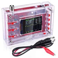 DSO138 2.4in TFT Pocket size Digital Oscilloscope Kit DIY Parts Handheld + Acrylic DIY Case Cover Shell for DSO138