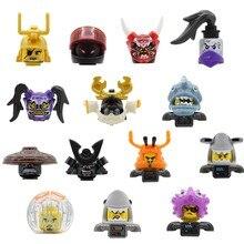 Felef única figura dos desenhos animados cabeça tubarão exército violeta modelo blocos de construção kits tijolos brinquedos eg18013 pg8077