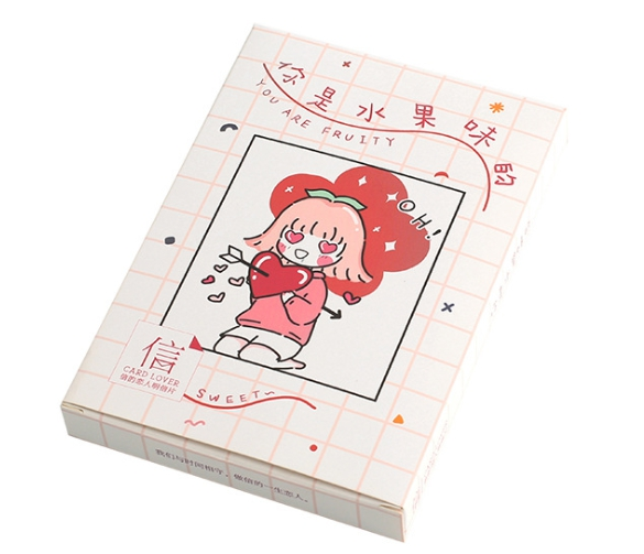14.3cm*9.3cm Colorful Fruit Paper Postcard(1pack=30pieces)