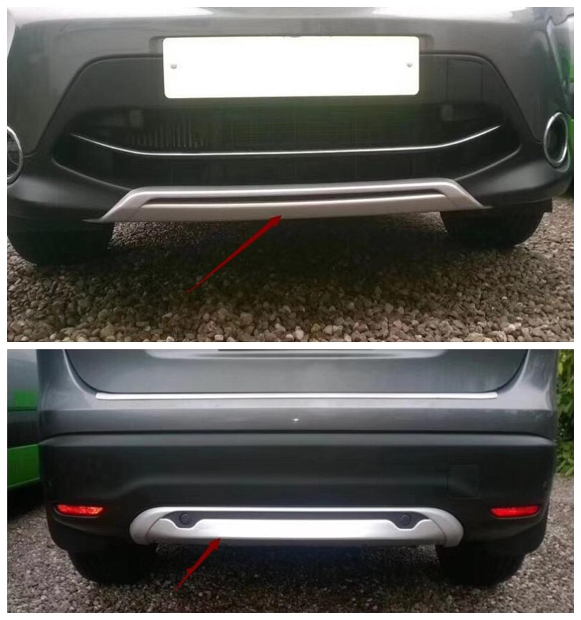 Front /& Rear Bumper Board Skid Protector Guard For Nissan Qashqai J11 2014