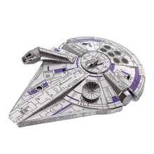 Piececool MIlitary Series Millennium Falcon Model Kits DIY Hanmade Jigsaw Toy 3D Metal Puzzle Model Creative Gift As Home Decor