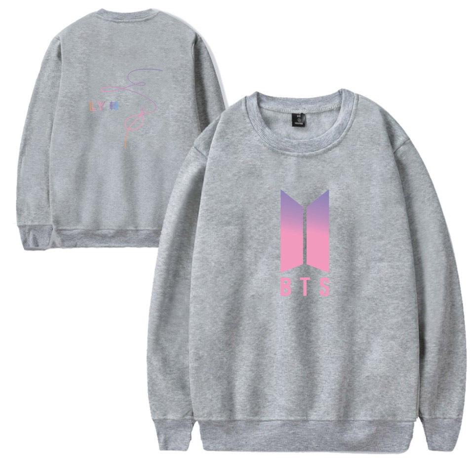 Europe And America Hot Sales Autumn And Winter New Style Bts Love Yourself LY Turn Fleece Round Neck Sweater