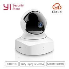 Nowy YI chmura kamera kopułkowa 1080P bezprzewodowa IP kamera bezpieczeństwa WIFI niania elektroniczna baby monitor noktowizor 2 Way Audio wersja międzynarodowa w chmurze