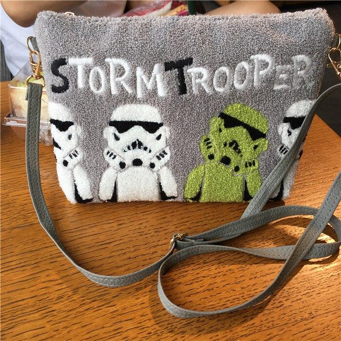 Image 2 - Fashion Cartoon Star Wars Darth Vader Stormtrooper Clutch Makeup Bag Pouch Women Messenger Bag Sling Crossbody BagsTop-Handle Bags   -