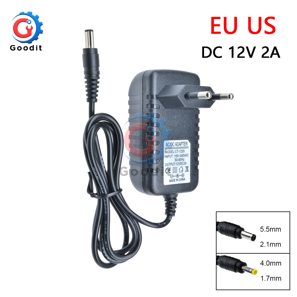 Power <font><b>Adapter</b></font> DC <font><b>12V</b></font> 2A <font><b>Adapter</b></font> AC 100-240V zu DC Ladegerät Supply Schalt EU UNS Stecker <font><b>220V</b></font> Zu <font><b>12V</b></font> Power <font><b>Adapter</b></font> für LED licht image