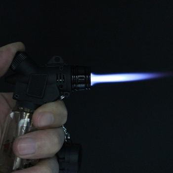 Outdoor BBQ Lighter Cigar Torch Turbo Lighter Jet Butane Gas Cigarette 1300 C Spray Gun Windproof Metal Pipe Lighter For Kitchen недорого