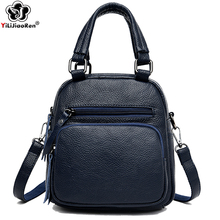 Fashion Small Backpacks for Girls Multi-Function Zipper Lady Shoulder Bag Backpack Famous Brand Mini Backpacks Leather Women