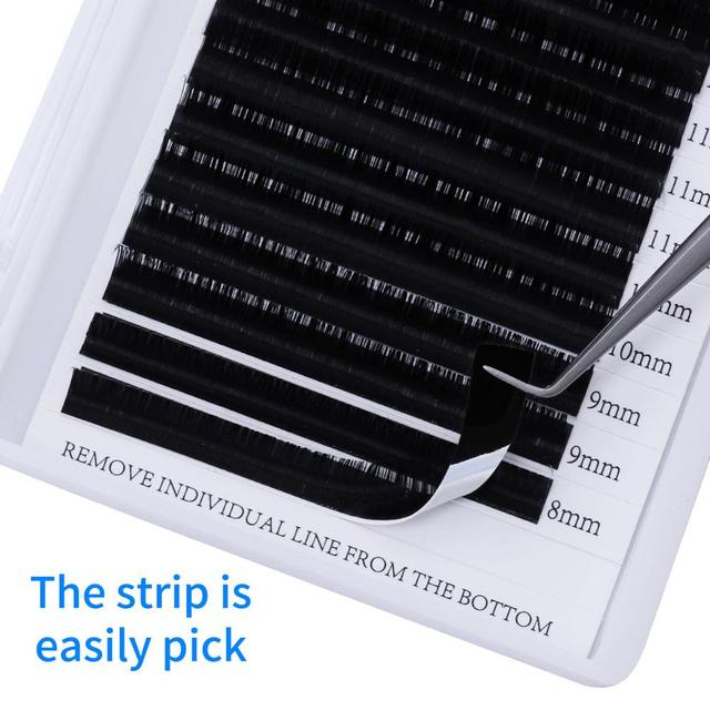 16 Rows Individual Eyelash Extension Faux Mink Eyelashes Thick Natural False Eyelashes Mink Classic Eyelash Extension Cilia 2