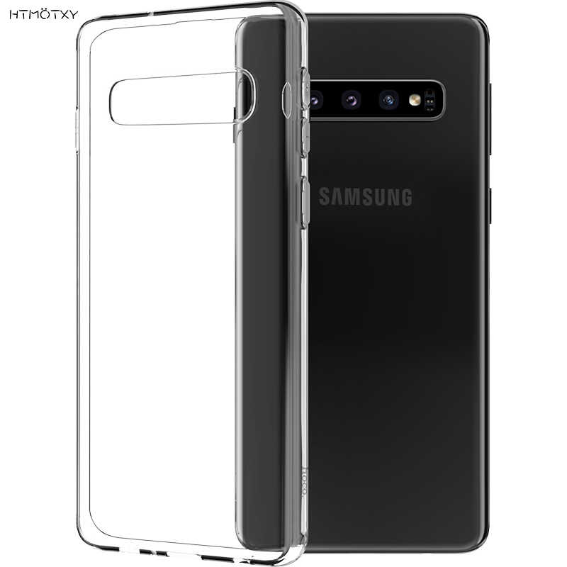 HTMOTXY Transparent Fall Für Samsung Galaxy A50 A70 A30 A40 A10 A20 A80 S10 S8 S9 Plus Hinweis 8 9 10 A8 A5 A9 J7 Thin Phone Cases