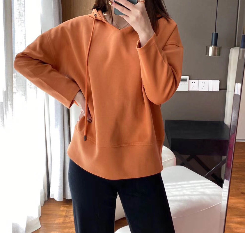 Women Hoodie 2020 Early Spring Four Color Washed Knitted Cotton Hoodie